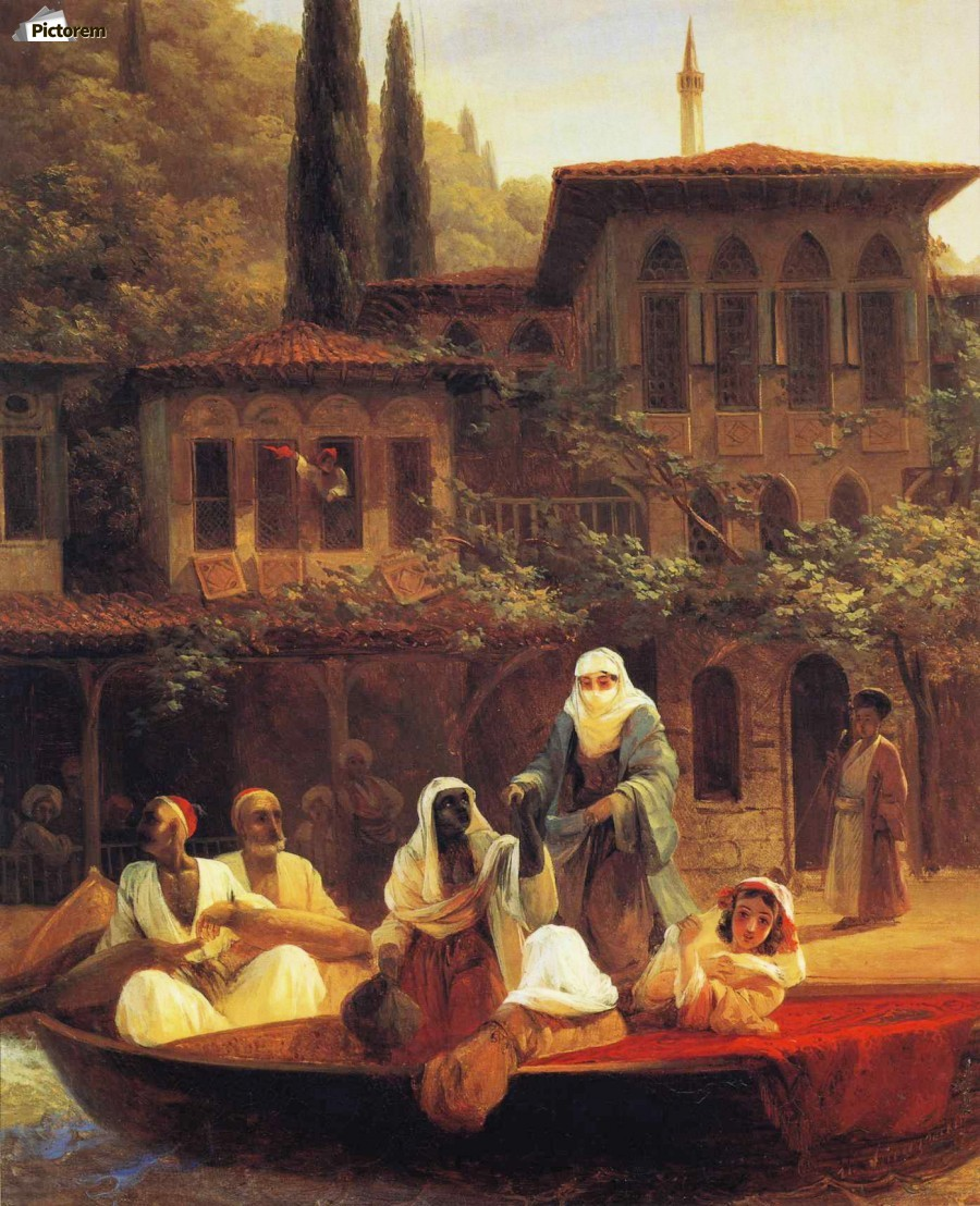 Boat Ride by Kumkapi in Constantinople  Print