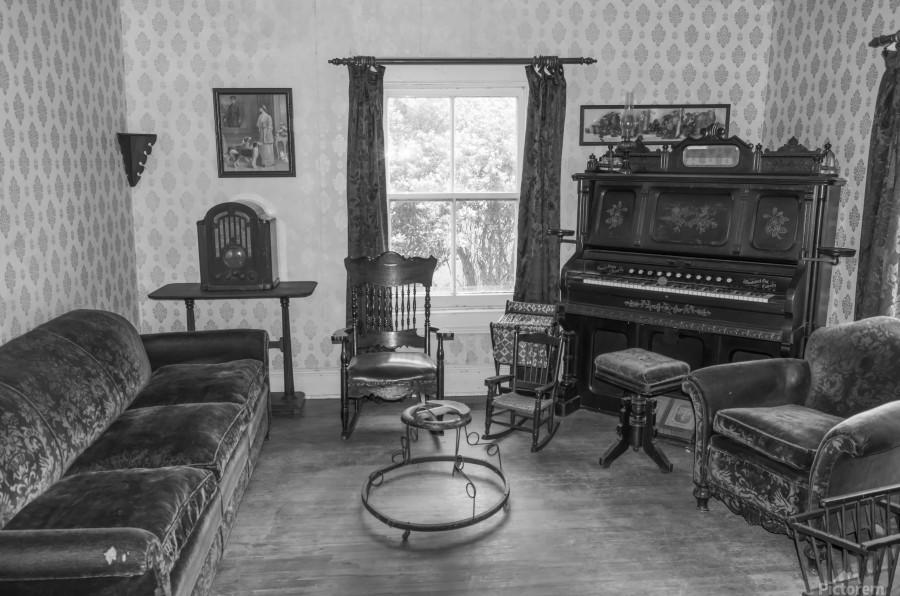 Thomas Organ and piano Company organ bw  Print