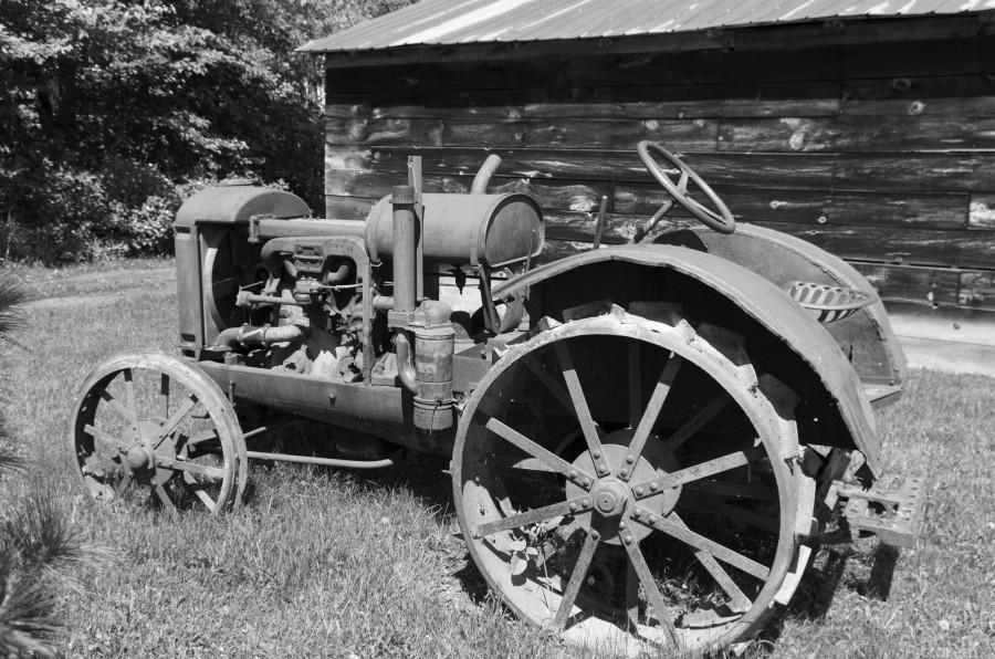 McCormick-Deering gasoline tractor 2 B&W  Print