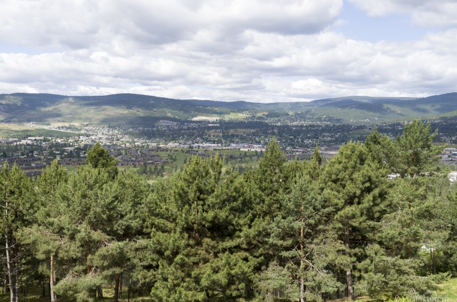 A view of Okanagan Lake and part of Kelowna from near the top of Mission Hill Road 3  Print