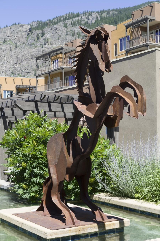Metal Horse sculpture  Print
