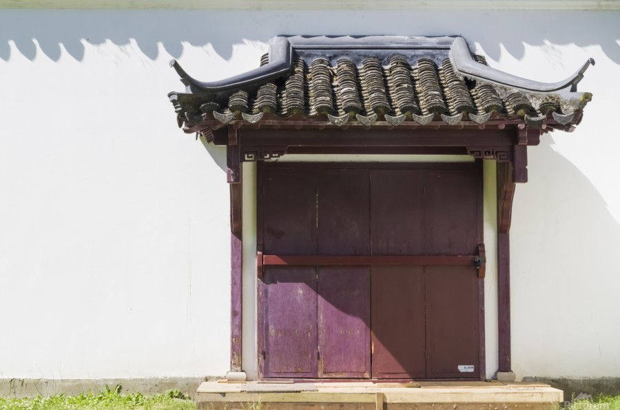 Asian Style Door and Portico  Print