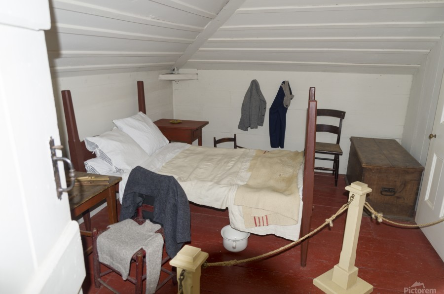 Bedroom in the Lightkeepers House 2  Print
