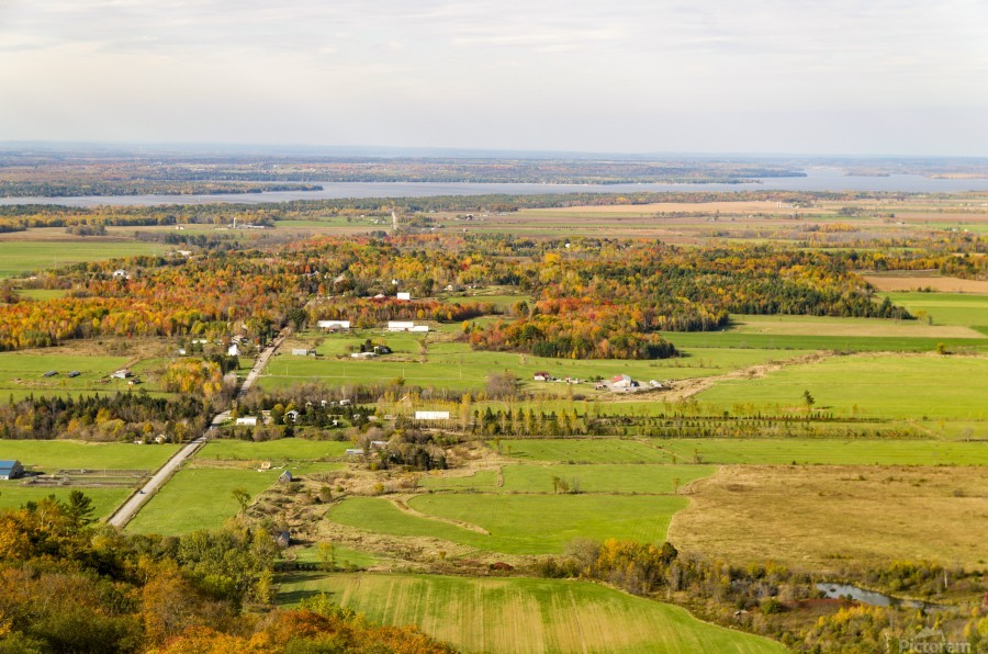View of Ottawa Valley in Autumn18  Print