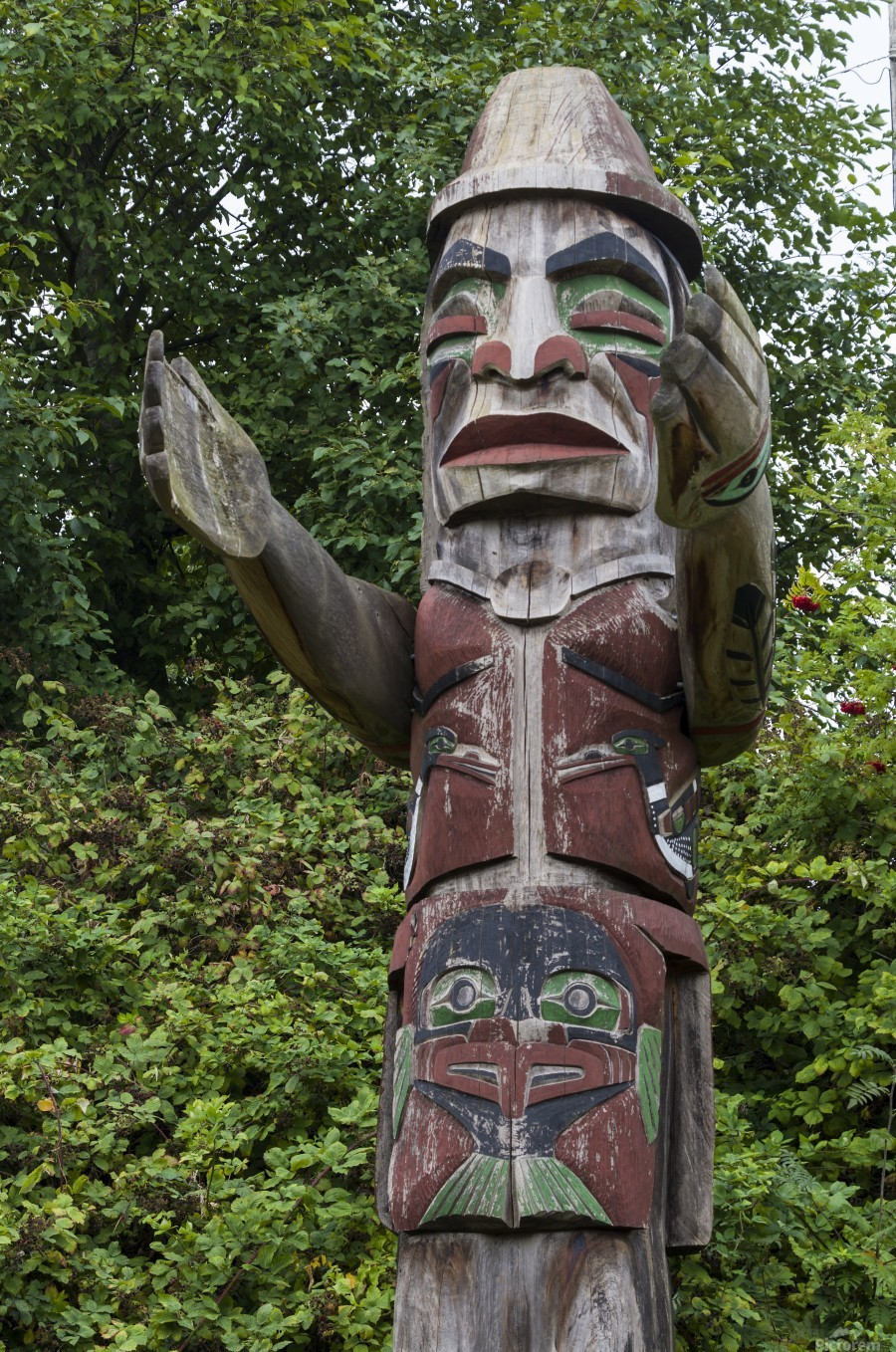 Totem pole of Granville Island 2  Print