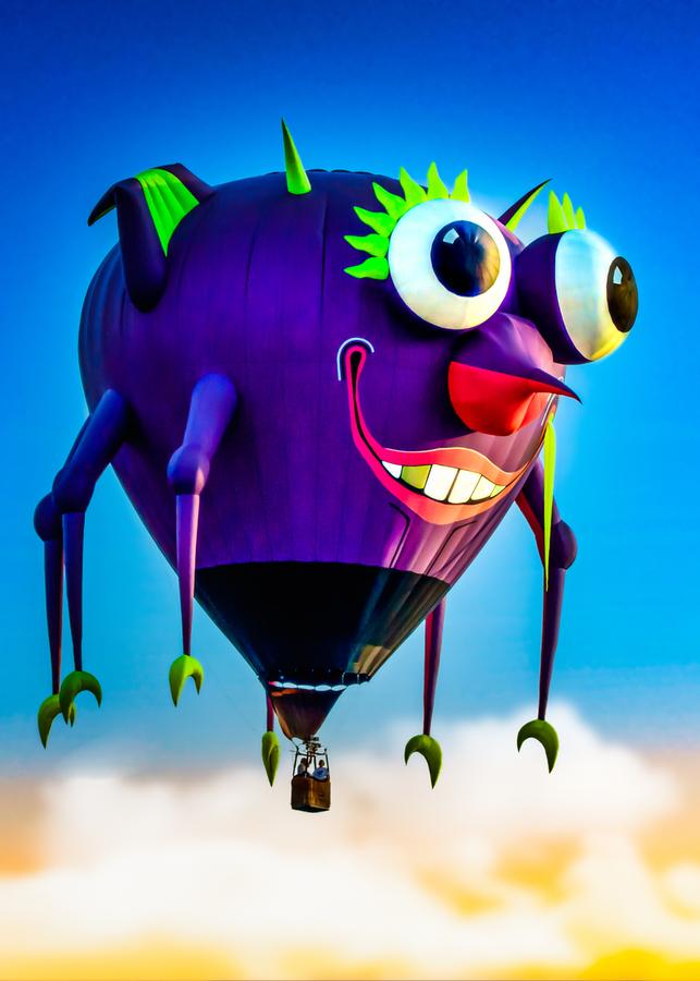 Flying Purple People Eater  Print