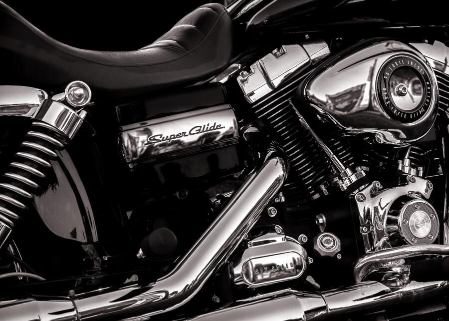 Motorcycle Number 1  Print