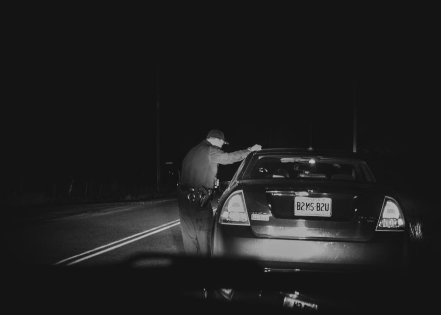 Late Night Traffic Stop  Print