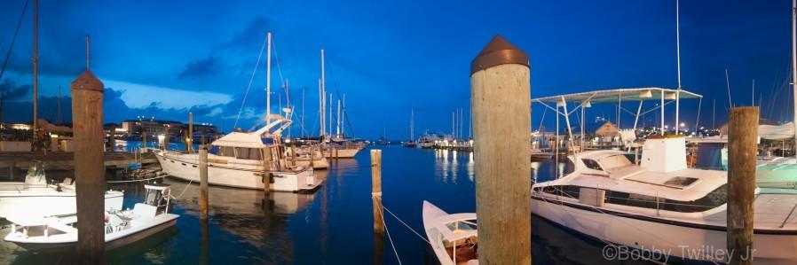 Key West Marina at Dusk  Print