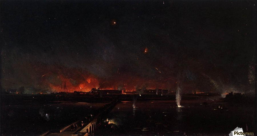 Bombardment of Marghera on the Night of May 24, 1849  Print