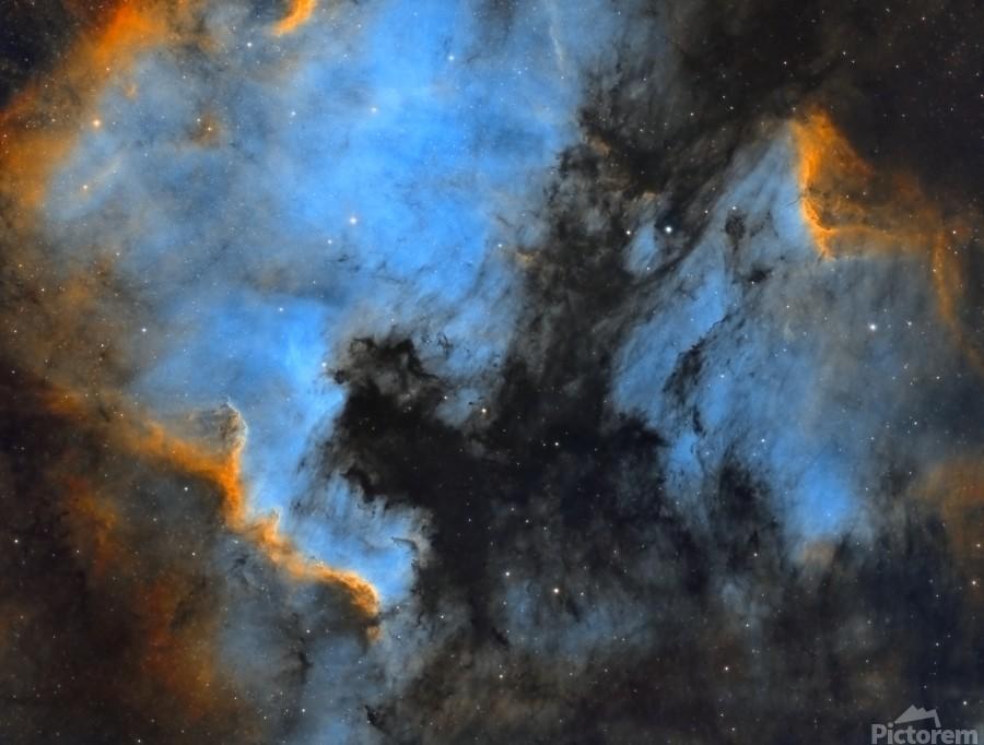 North American and Pelican Nebula  Print