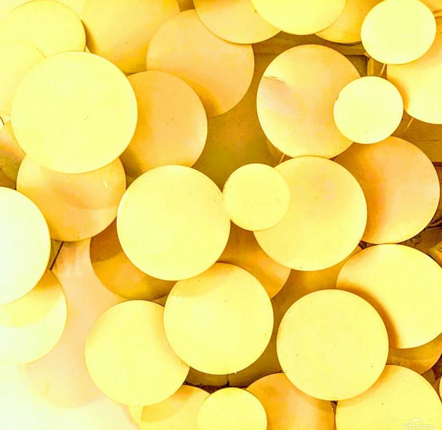 yellow circles  Print