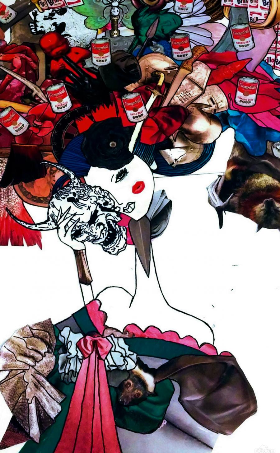 masked geisha  Print