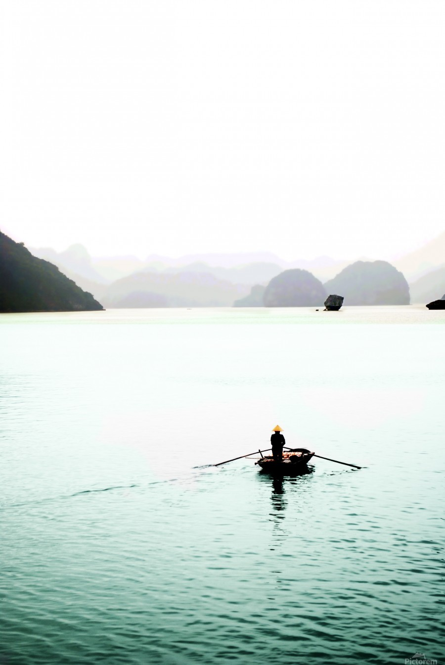 Ha Long Bay Fishing  Print
