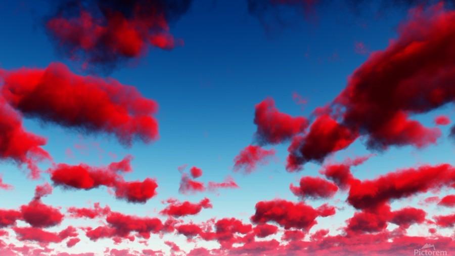 Deep Red Clouds  Print