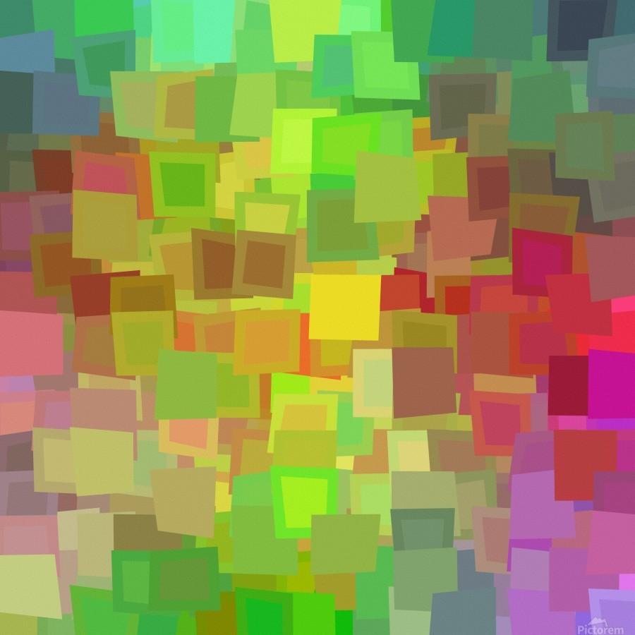 Vivid Squares  Print