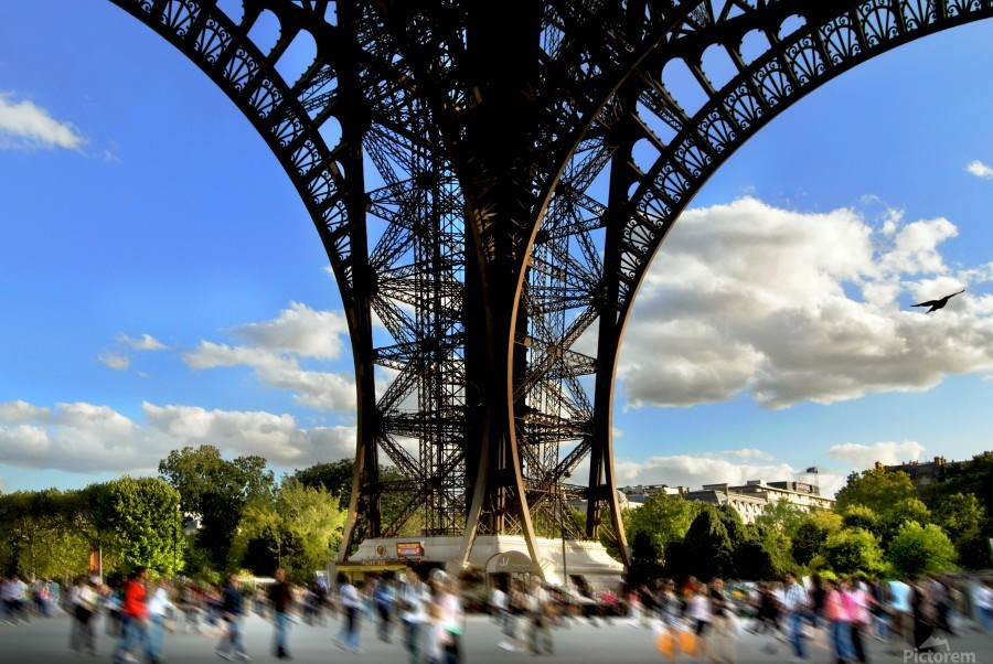 Life under the Eiffel Tower  Print