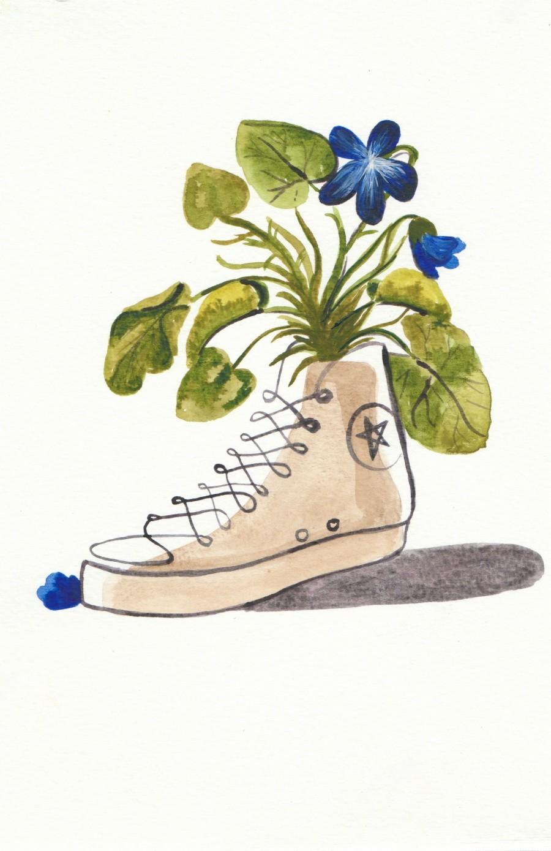 Chucks and Flowers   Print