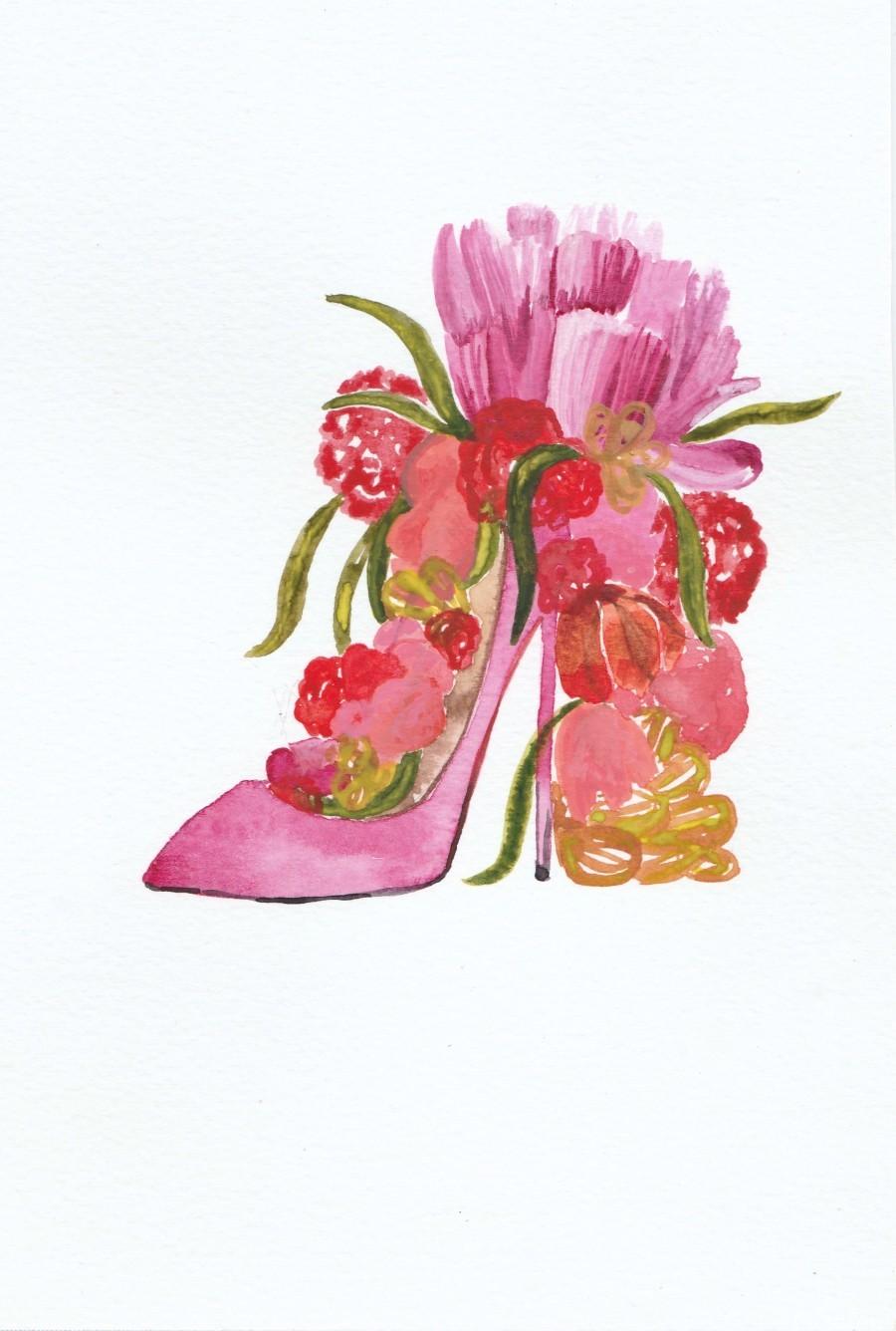 Flower heel  Print
