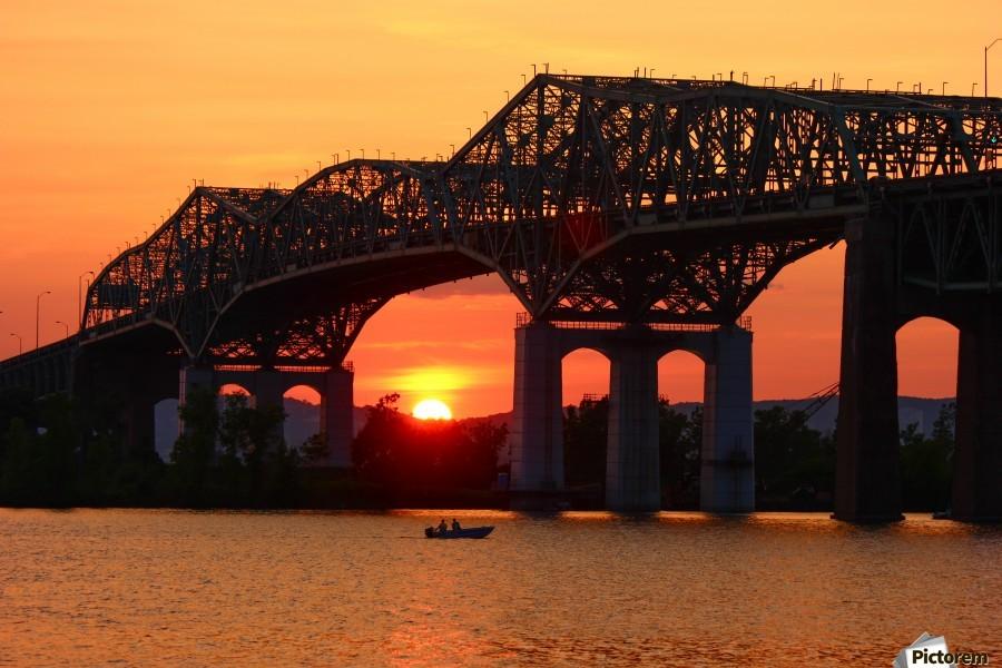 Champlain Bridge sunset  Print