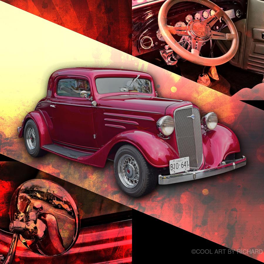 1935 Chevrolet 5-Window Coupe  Print