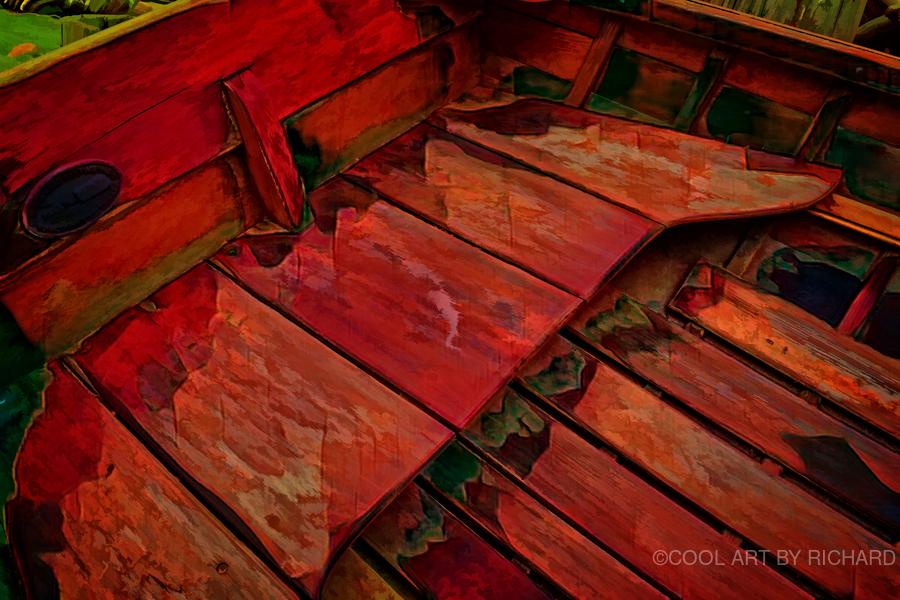 Rowboat Abstract  Print