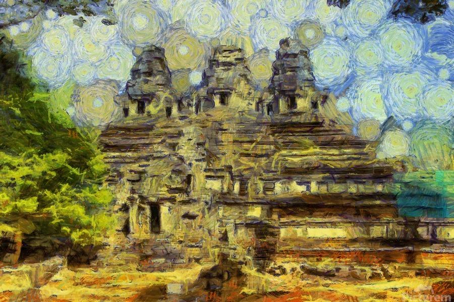 CAMBODIA 128 Angkor Wat  Siem Reap VincentHD  Print