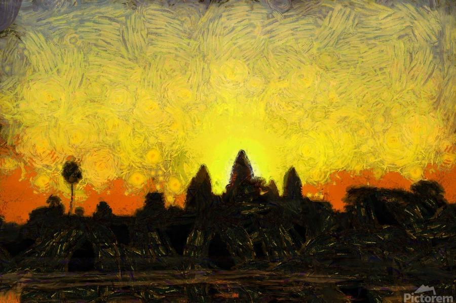 CAMBODIA 136 Angkor Wat  Siem Reap VincentHD  Print