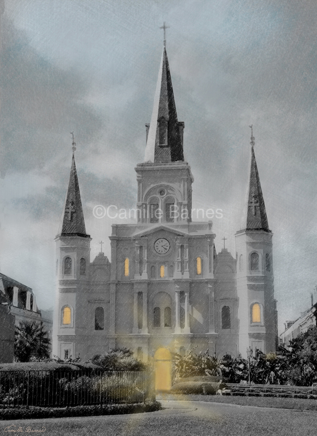 St Louis Cathedral - New Orleans  Print
