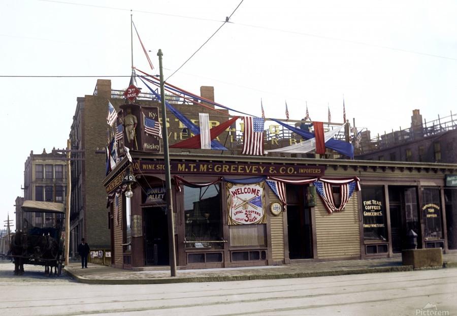 McGreevys Third Base Saloon Boston 1903  Print