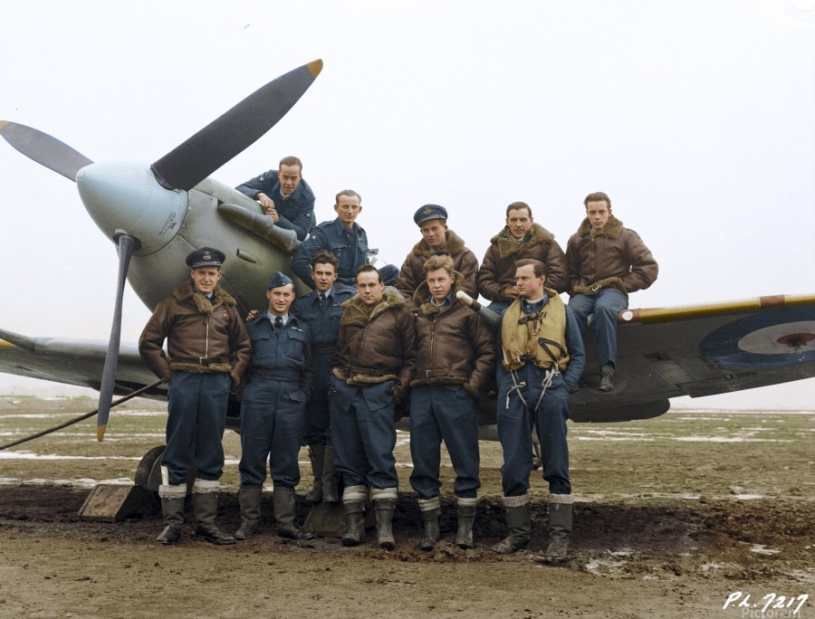 Members of 403 Squadron RCAF February 12 1942  Print