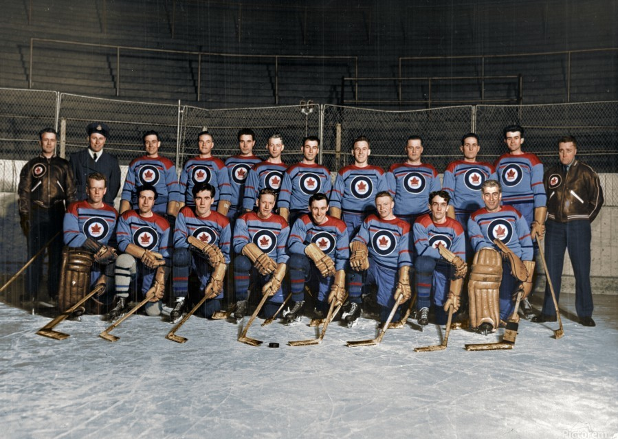 RCAF Flyers - Canadian Olympic Hockey Team October 29 1947  Print