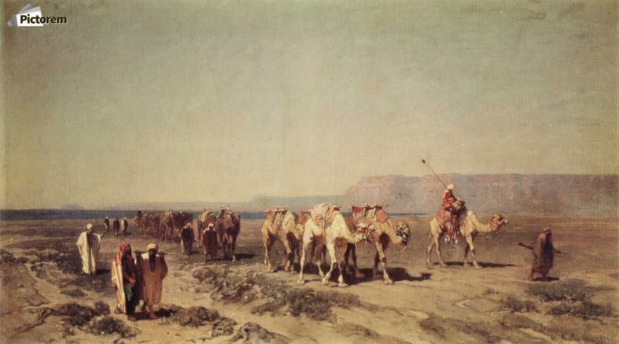 Caravan on the shores of the Red sea  Print
