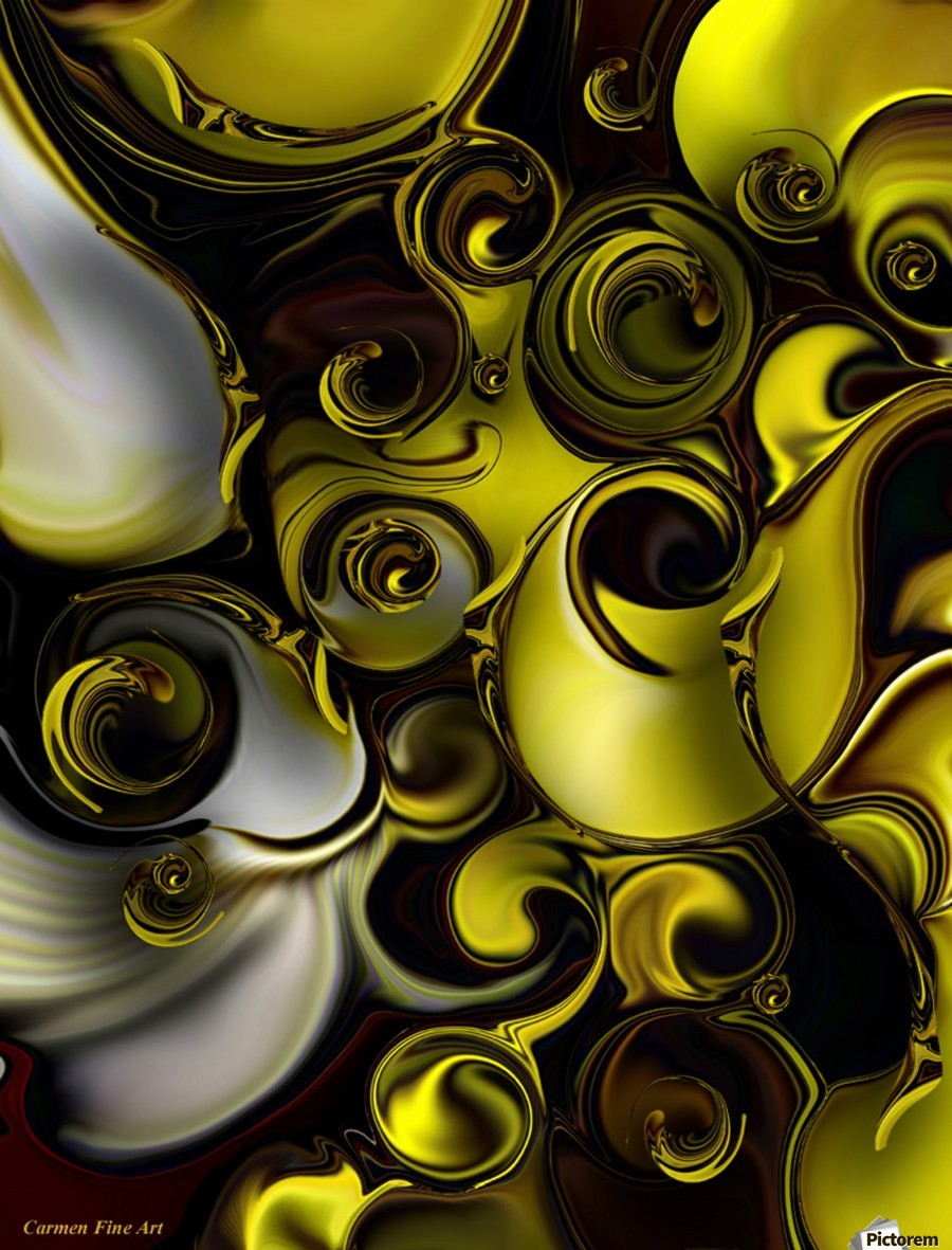 Architectonic Morphism , Carmen Fine Art , Architectonic Morphism, Carmen Fine Art,  Digital Art, Abstract Art, Yellow, White, Black
