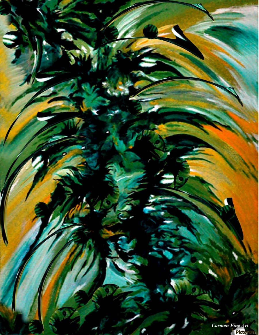 Momentary Season , Carmen Fine Art , Momentary Season, Oil Canvas Painting, Carmen Fine Art, Abstract Art, Green, Orange, White, Black