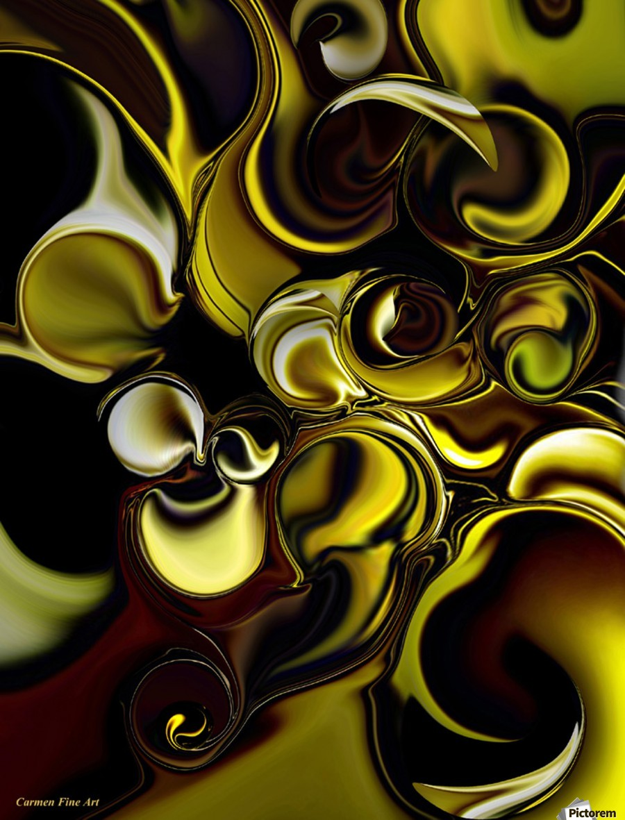 Transparent Dimension , Carmen Fine Art , Transparent Dimension, Carmen Fine Art, Digital, Abstract, Yellow, White, Red