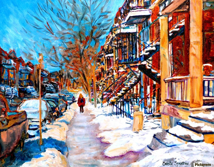 MONTREAL STREET IN WINTER  Print