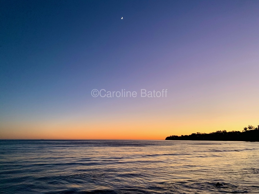 Sunset Moon - Malibu CA  Print