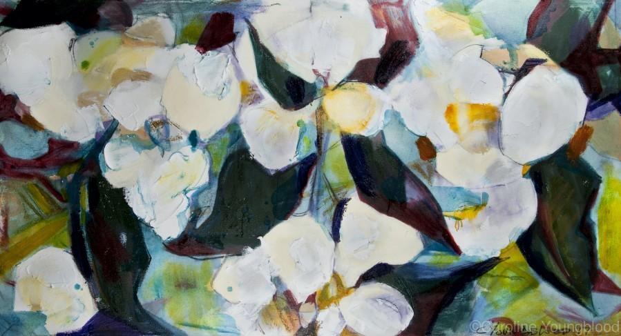 Louisiana Cubist Magnolia  Print