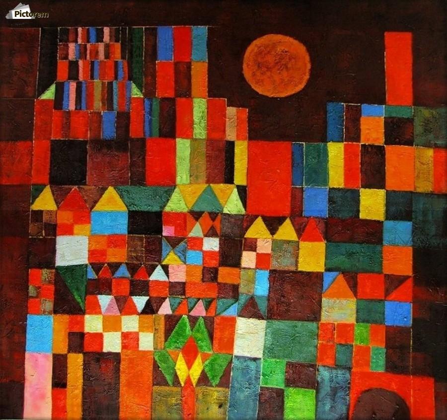 Castle And The Sun Paul Klee Canvas