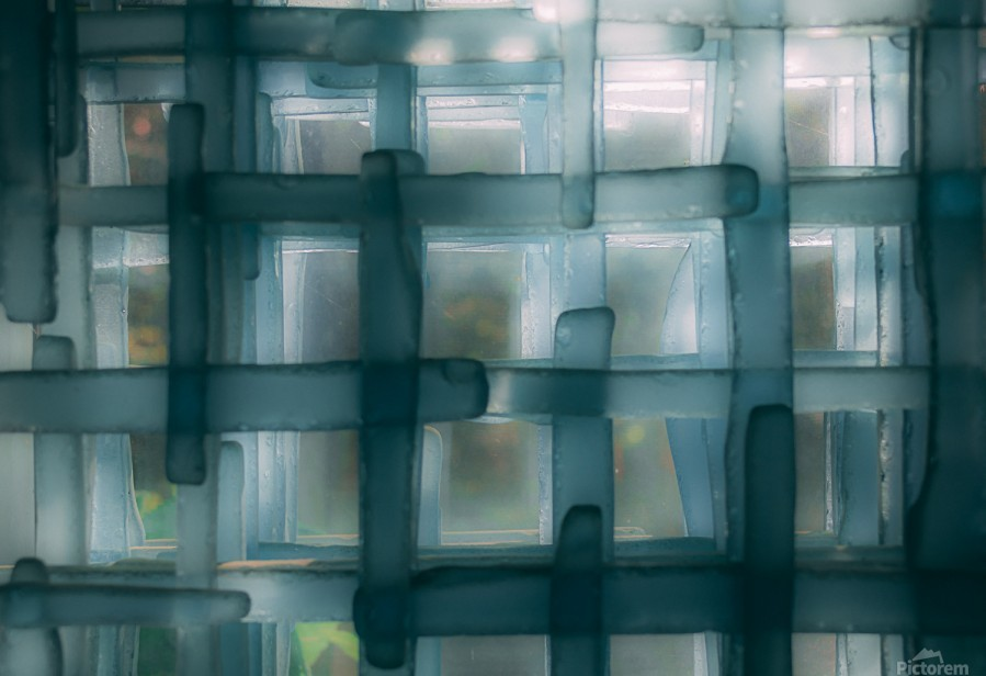 Glass lines 1 triptych  Print