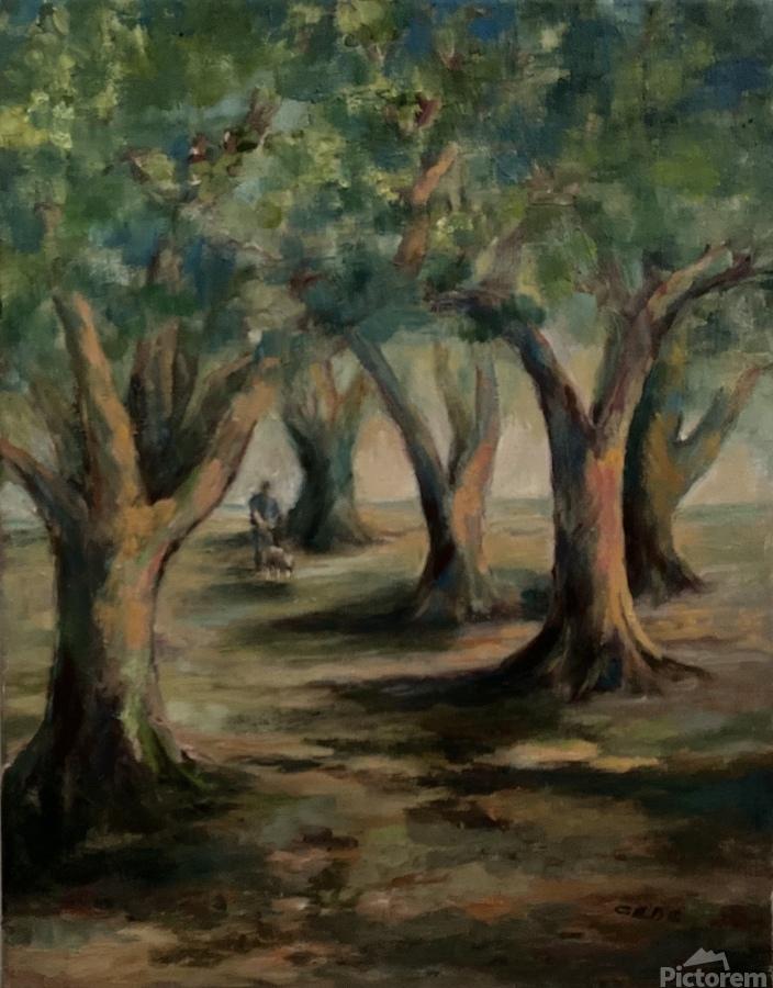 Oak trees  Print