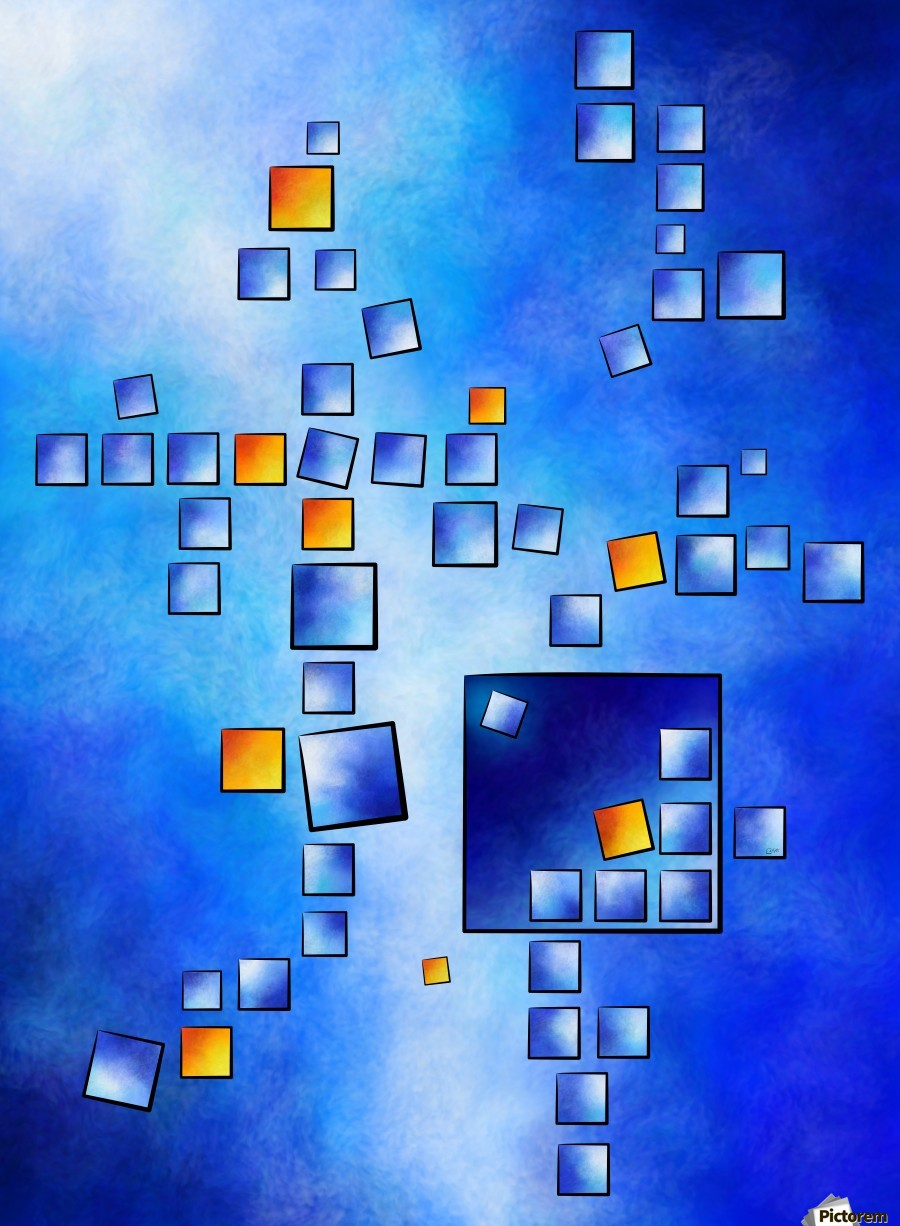 Cublerossia V1 - falling cubes  Print