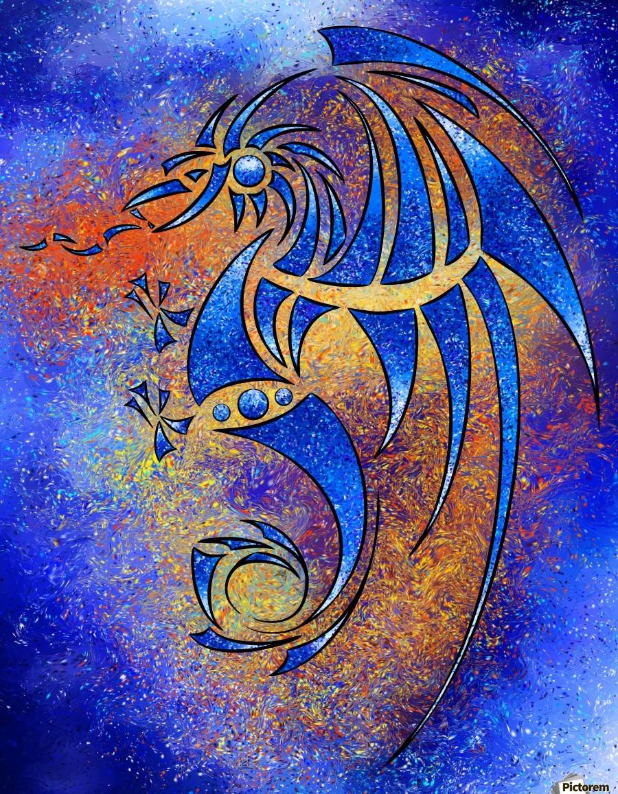 Dragissous V1 - blue dragon  Print