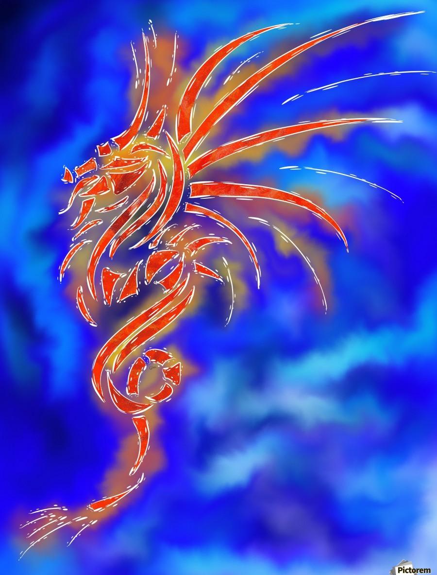 Essemios - furious dragon  Print