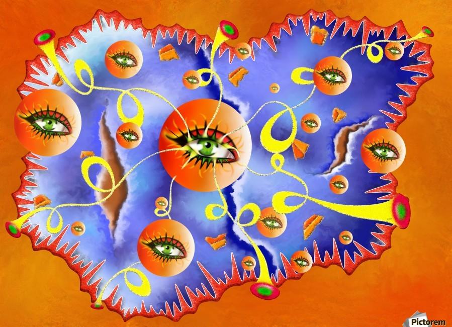 Fioloniceto V2 - digital surrealism  Print