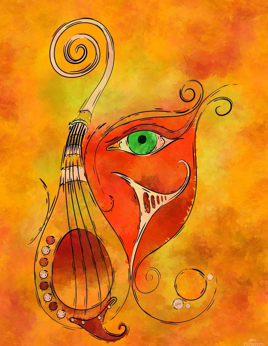 Masquerevue - beauty behind the instrumental mask  Print