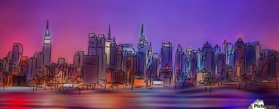 Yorkirius - Abstract skyline  Print