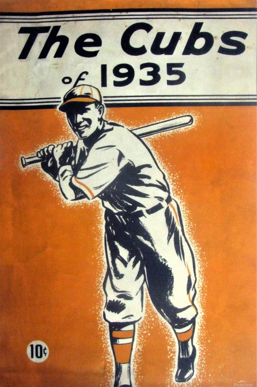1935 Chicago Cubs Program Cover  Print