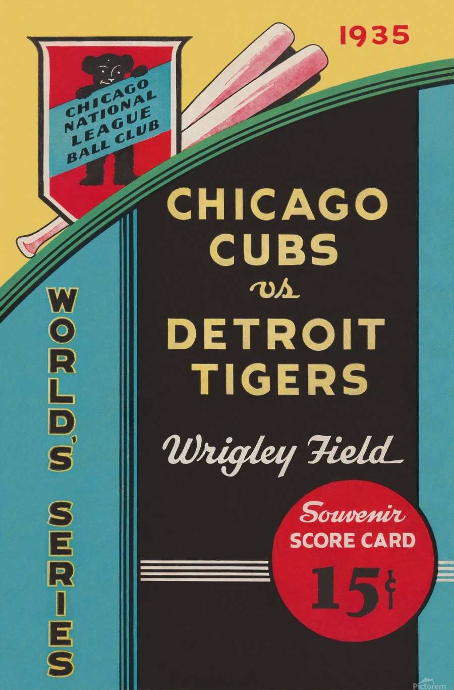 1935 Chicago Cubs World Series Program Cover  Print